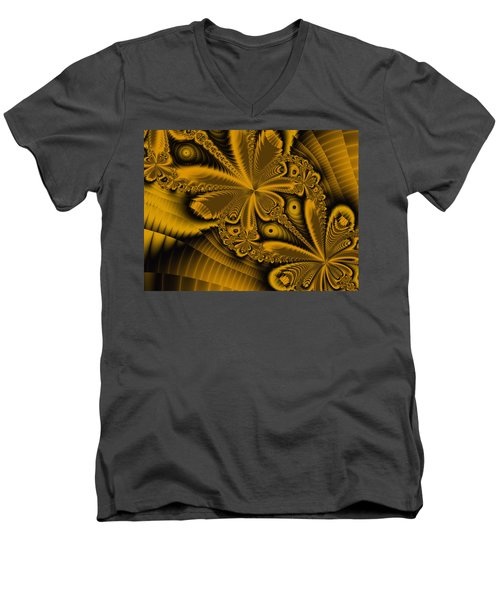 Men's V-Neck T-Shirt featuring the digital art Paths Of Possibility by Elizabeth McTaggart