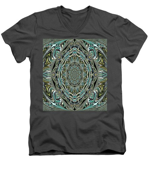 Men's V-Neck T-Shirt featuring the photograph Pattern. Art For Home And Office by Oksana Semenchenko