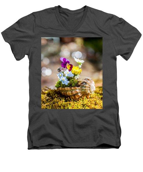 Patterns In Nature Men's V-Neck T-Shirt by Aaron Aldrich