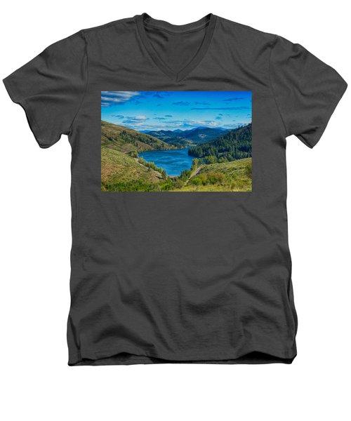 Patterson Lake In The Summer Men's V-Neck T-Shirt