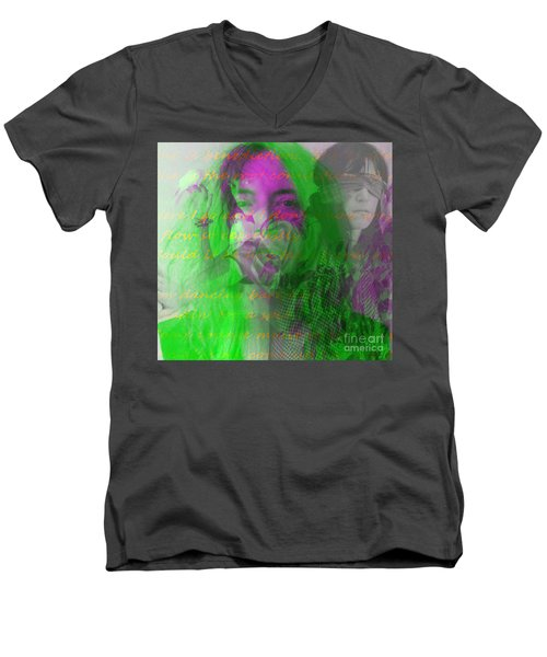 Patti Smith Dancing Barefoot Men's V-Neck T-Shirt by Elizabeth McTaggart