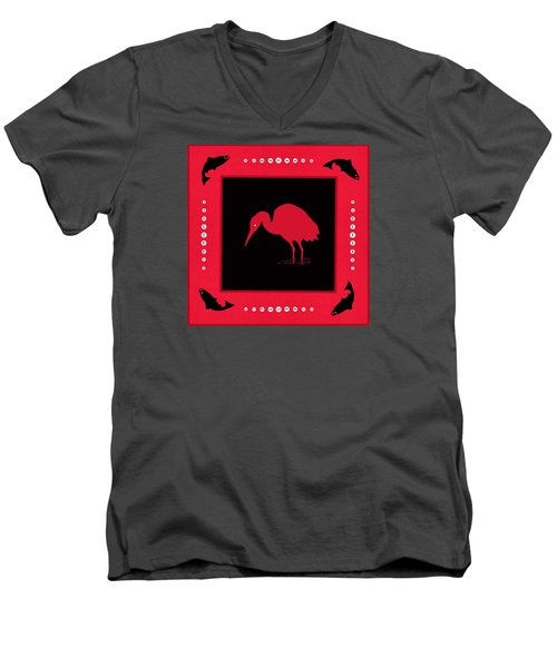 Men's V-Neck T-Shirt featuring the photograph Peace And Plenty Button Blanket by I'ina Van Lawick