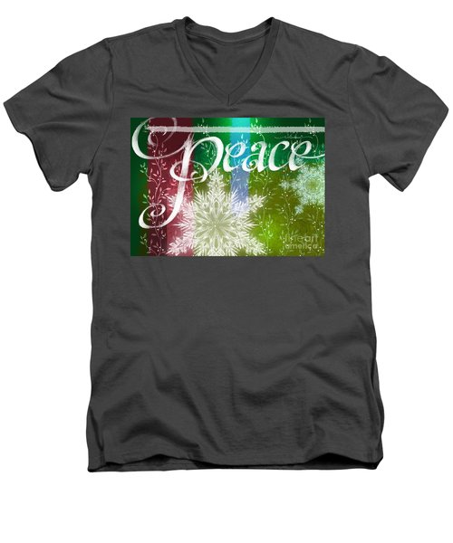 Peace Greeting Men's V-Neck T-Shirt