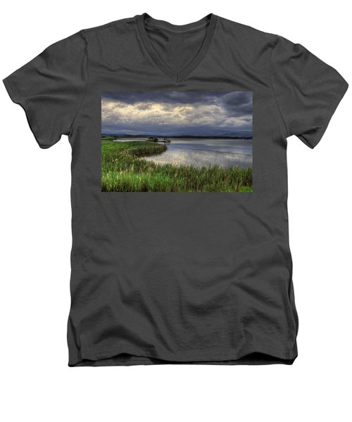 Peaceful Evening At The Lake Men's V-Neck T-Shirt