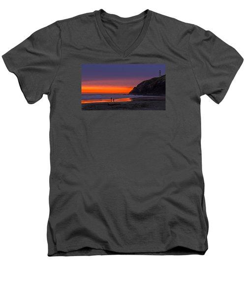 Peaceful Evening Men's V-Neck T-Shirt by Robert Bales