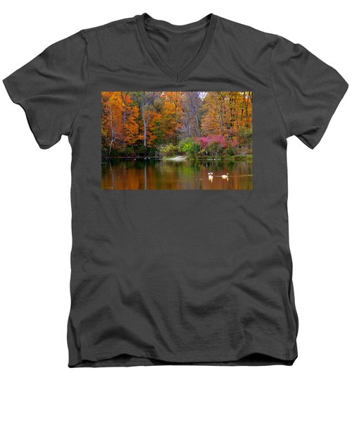 Peaceful Lake Men's V-Neck T-Shirt