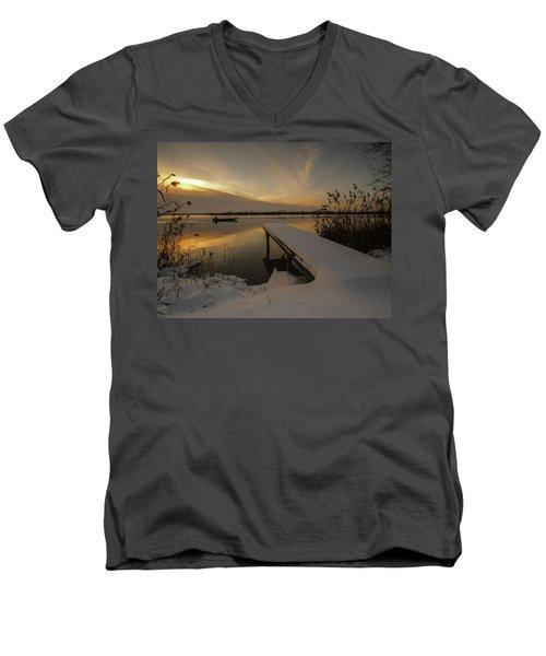 Peaceful Morning  Men's V-Neck T-Shirt