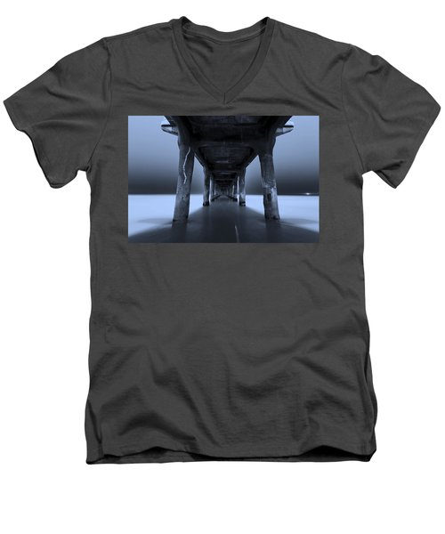 Men's V-Neck T-Shirt featuring the photograph Peaceful Pacific by Mihai Andritoiu