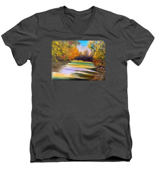 Peaceful River Men's V-Neck T-Shirt