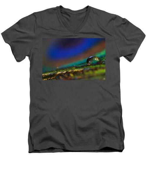 Peacock Drop Men's V-Neck T-Shirt