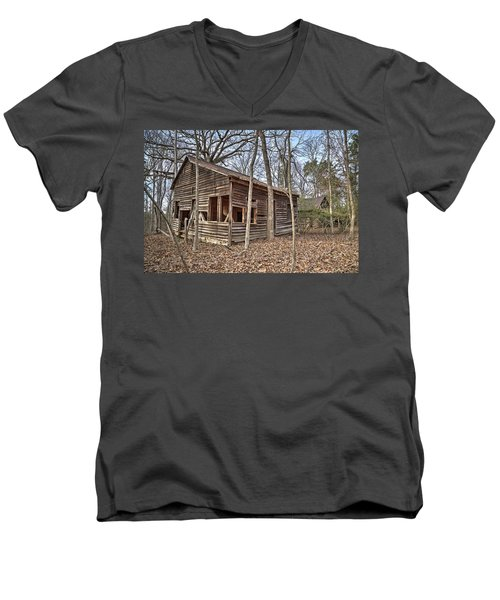 Peak Ruins-1 Men's V-Neck T-Shirt
