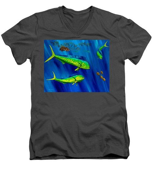 Peanut Gallery Men's V-Neck T-Shirt by Steve Ozment