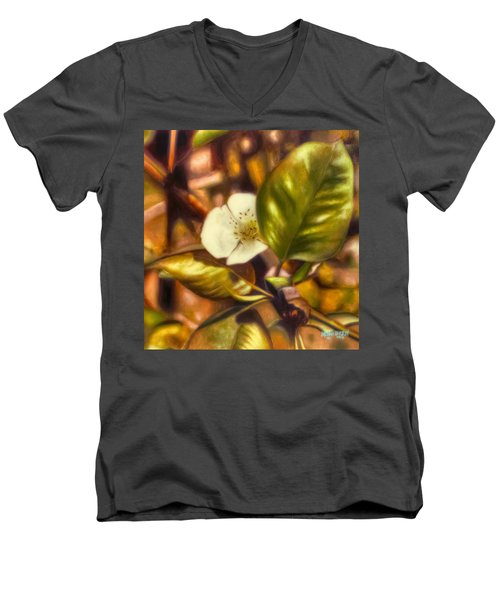 Pear Blossom Men's V-Neck T-Shirt