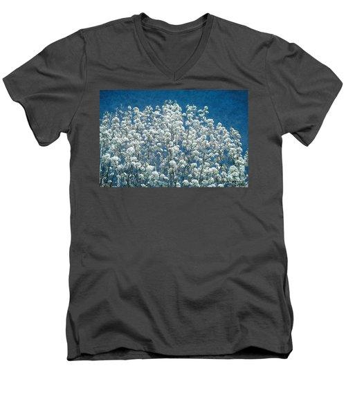 Pear Blossoms Men's V-Neck T-Shirt