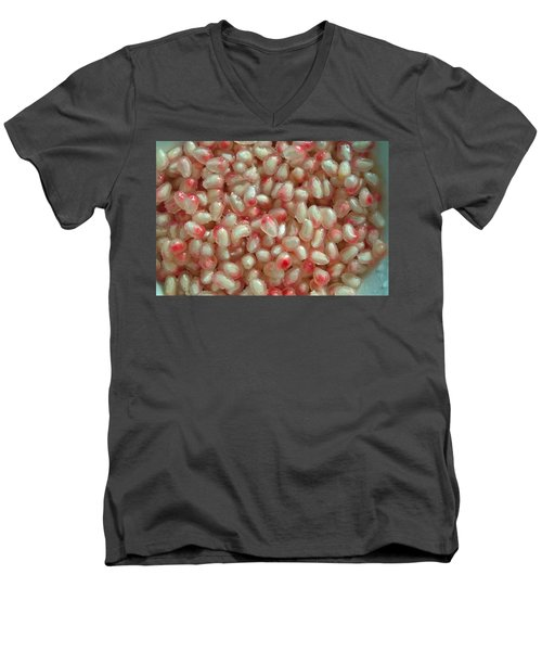 Pearly Pomegranate Seeds Men's V-Neck T-Shirt