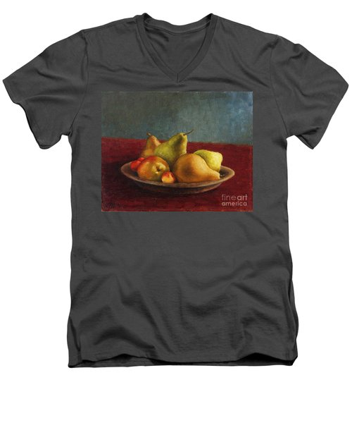 Pears And Cherries Men's V-Neck T-Shirt