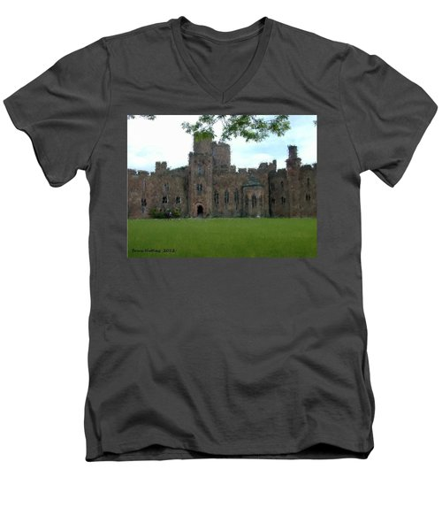 Peckforton Castle Men's V-Neck T-Shirt by Bruce Nutting