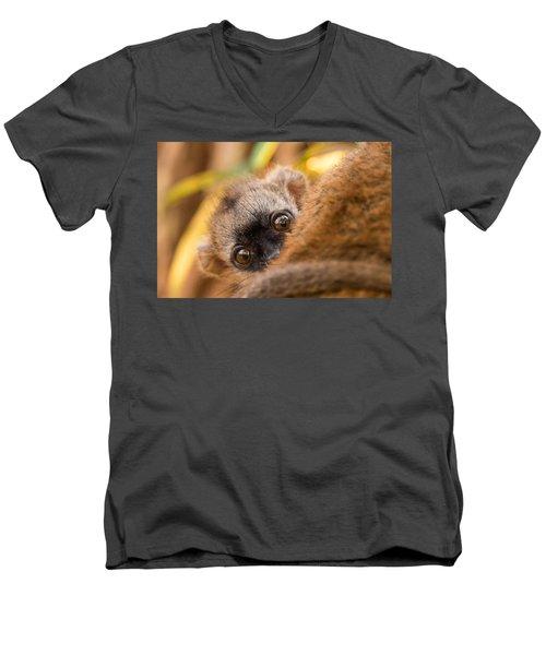 Peekaboo Men's V-Neck T-Shirt