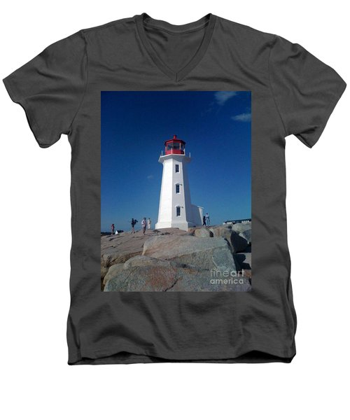 Peggy's Cove Lighthouse Men's V-Neck T-Shirt