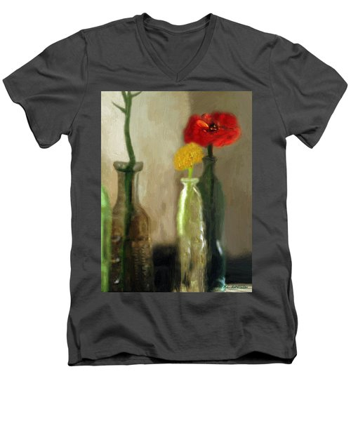 Peggy's Flowers Men's V-Neck T-Shirt
