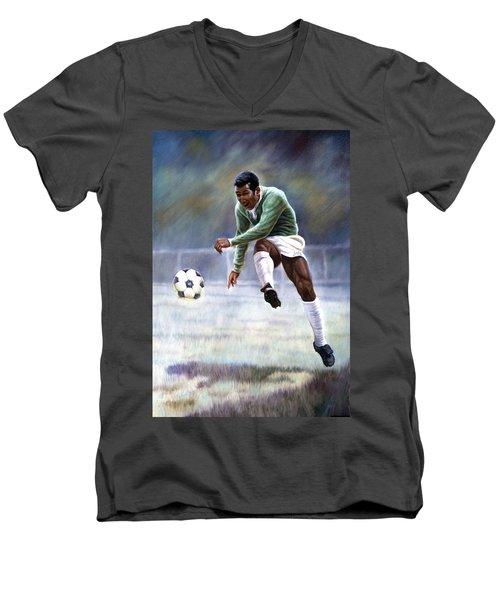 Pele Men's V-Neck T-Shirt