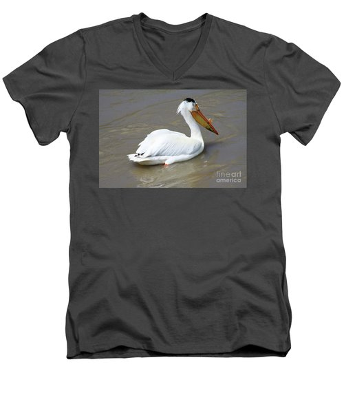 Pelecanus Eerythrorhynchos Men's V-Neck T-Shirt