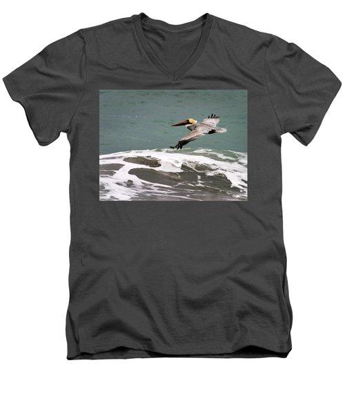 Pelican Flying Men's V-Neck T-Shirt
