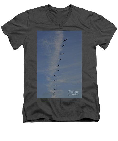 Pelican Line Men's V-Neck T-Shirt