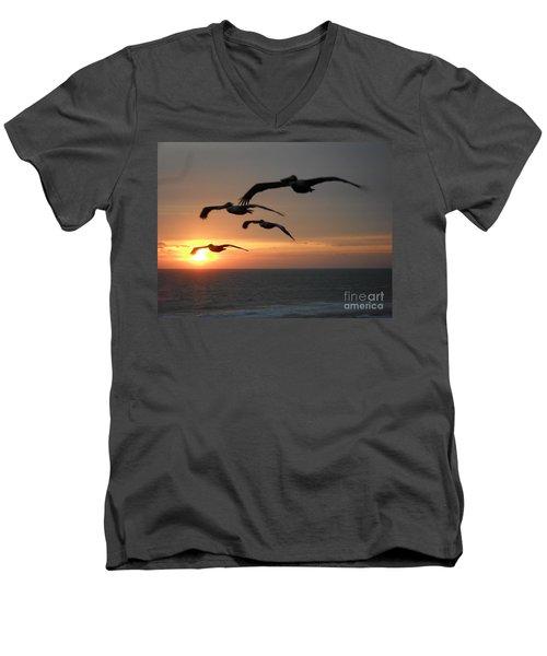 Pelican Sun Up Men's V-Neck T-Shirt