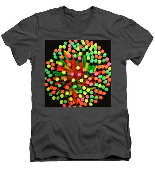 Pencil Blossom Men's V-Neck T-Shirt