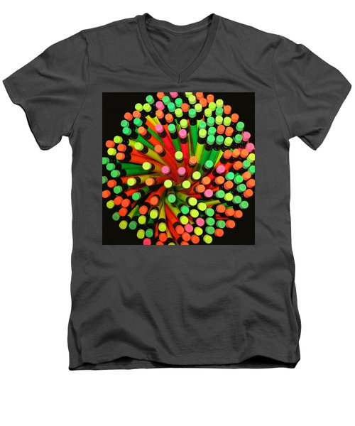 Pencil Blossom Men's V-Neck T-Shirt