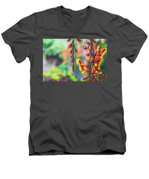Pending Flowers Men's V-Neck T-Shirt