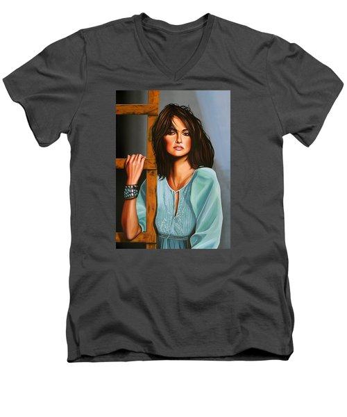 Penelope Cruz Men's V-Neck T-Shirt by Paul Meijering