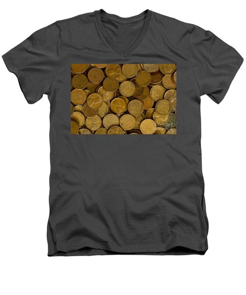 Pennies Men's V-Neck T-Shirt