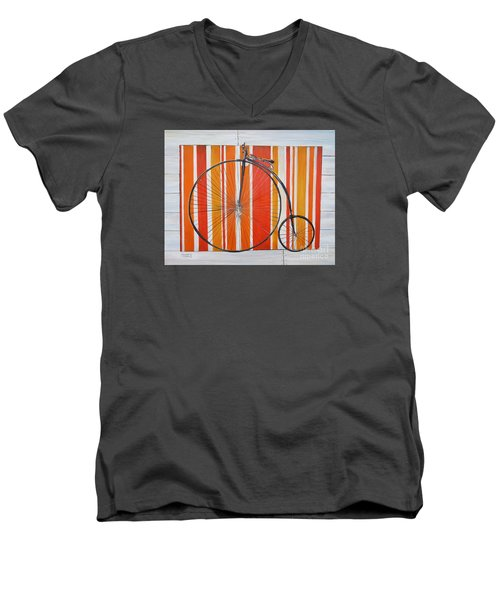 Penny-farthing Men's V-Neck T-Shirt by Marilyn  McNish