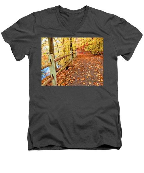 Pennypack Trail Philadelphia Fall Men's V-Neck T-Shirt