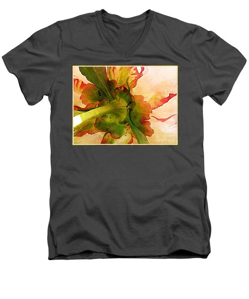 Peony Flirt Men's V-Neck T-Shirt