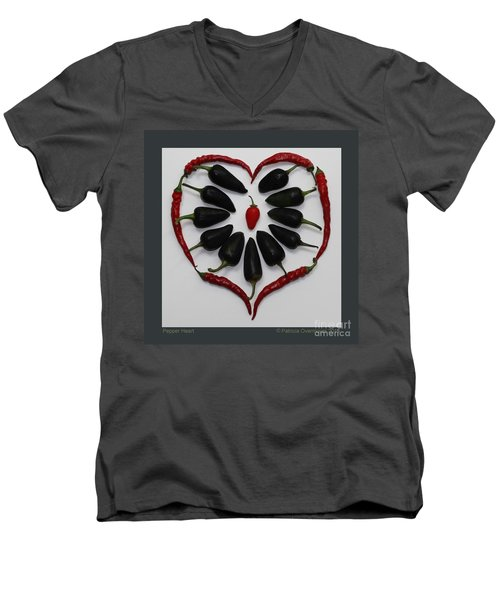Pepper Heart Men's V-Neck T-Shirt