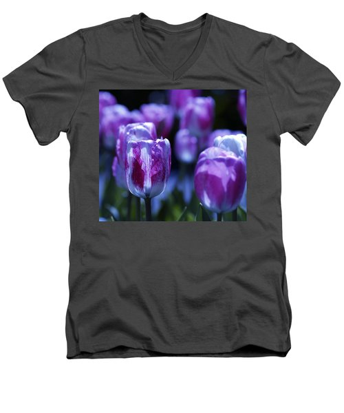 Men's V-Neck T-Shirt featuring the photograph Peppermint Candies by Joe Schofield