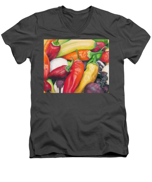 Peppers And Onions Men's V-Neck T-Shirt