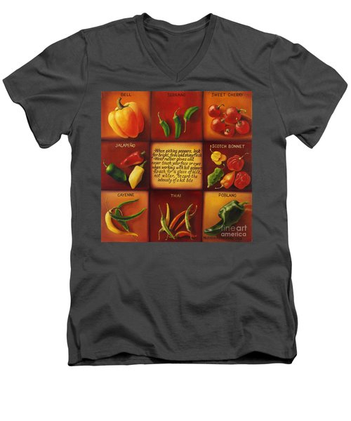 Pepper Facts  Men's V-Neck T-Shirt