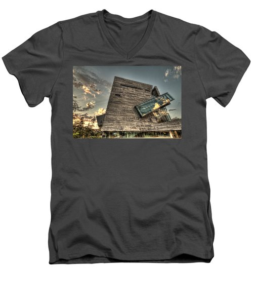 Perot Museum Men's V-Neck T-Shirt by Jonathan Davison