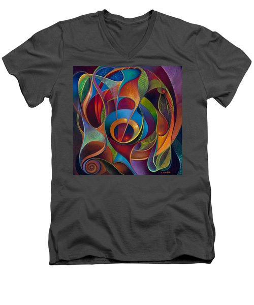 Perplexity Men's V-Neck T-Shirt by Claudia Goodell