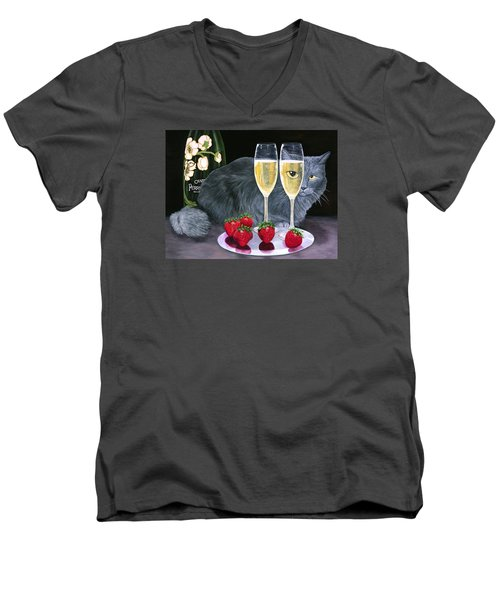 Perrier Jouet Et Le Chat Men's V-Neck T-Shirt