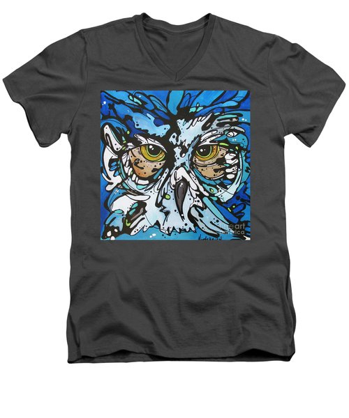 Men's V-Neck T-Shirt featuring the painting Perry by Nicole Gaitan