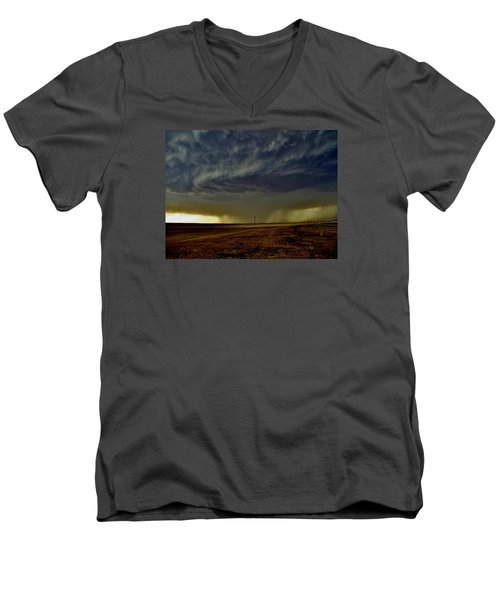 Perryton Supercell Men's V-Neck T-Shirt by Ed Sweeney