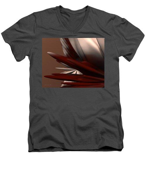 Petals And Stone 2 Men's V-Neck T-Shirt by Judi Suni Hall
