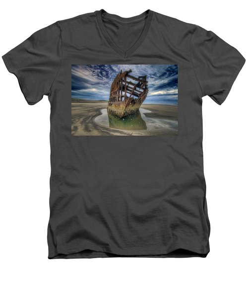 Peter Iredale At Dawn Men's V-Neck T-Shirt