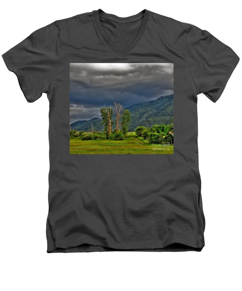 Petes Trees Men's V-Neck T-Shirt