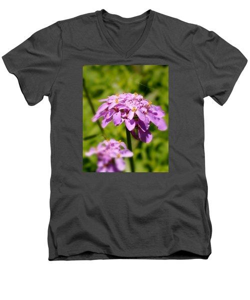 Men's V-Neck T-Shirt featuring the photograph Petite Parasol by Elizabeth Sullivan